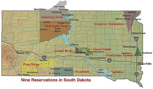 Sioux Reservations in SD