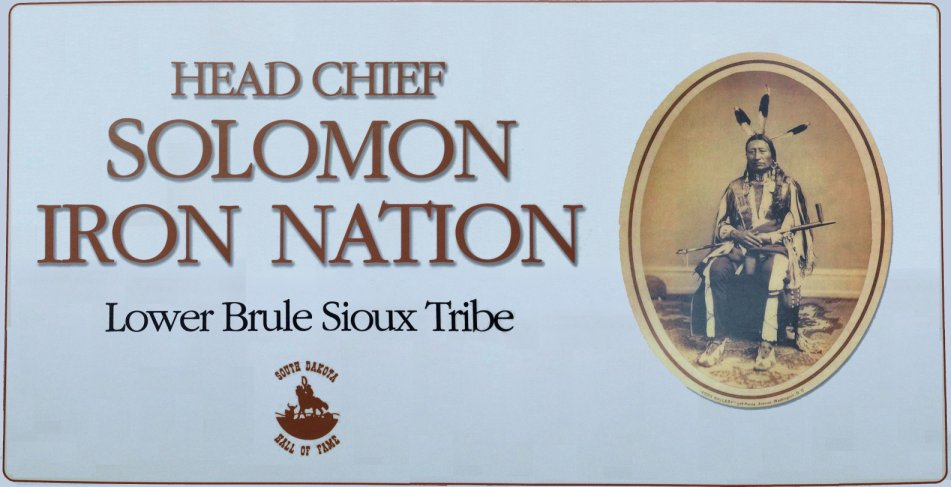 Chief Iron Nation in the South Dakota Hall of Fame
