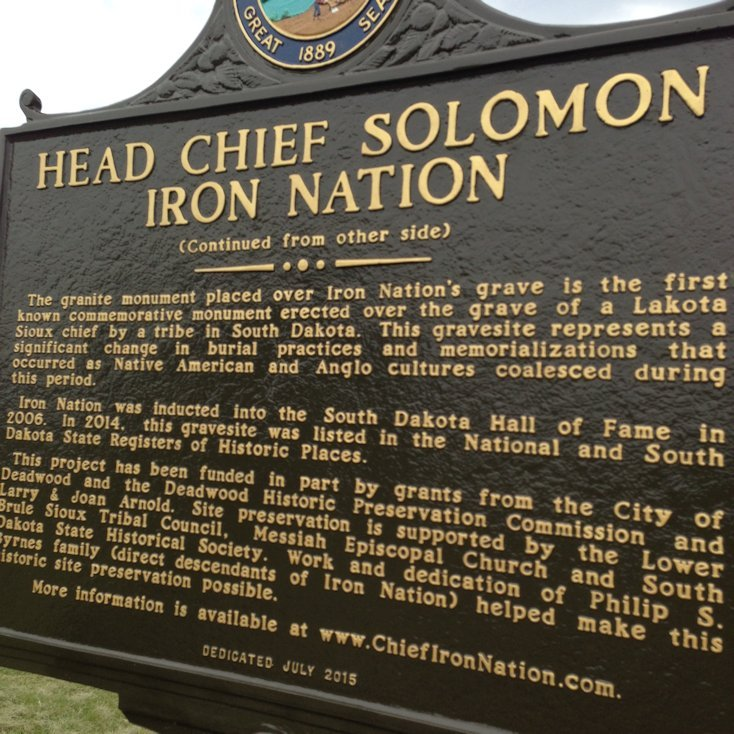 Chief Iron Nation Monument - back side