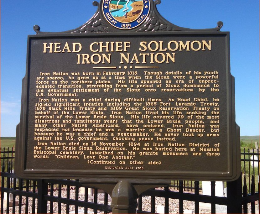 Chief Iron Nation Monument