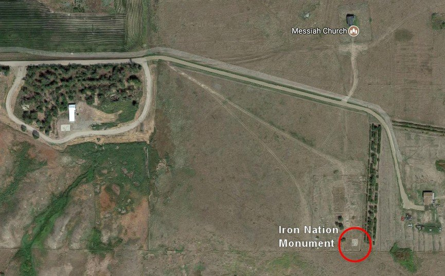 Satellite Map of Iron Nation burial site